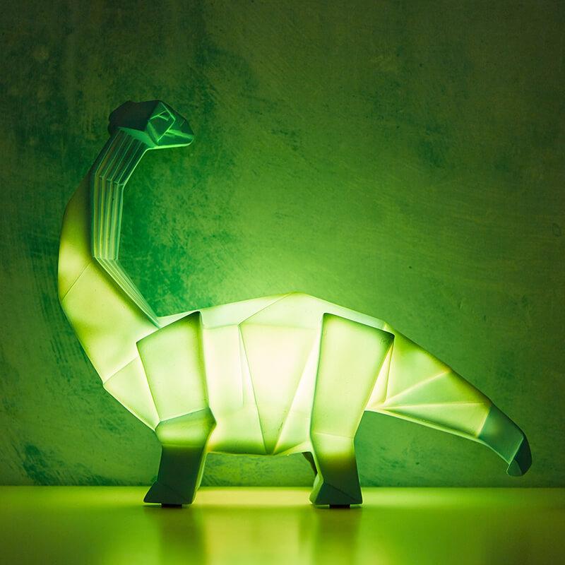Origami Diplodocus Table Lamp Green