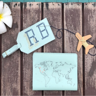 Stitch Your Own Luggage Tag Mint