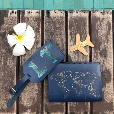 Stitch Your Own Luggage Tag Navy