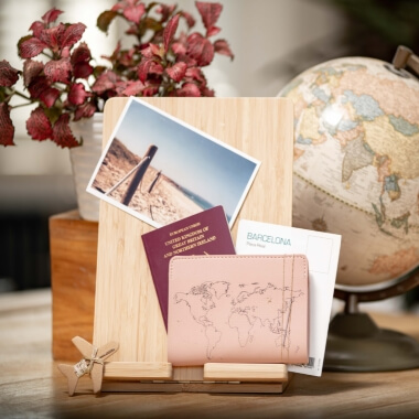 Stitch Your Own Passport Cover Pink