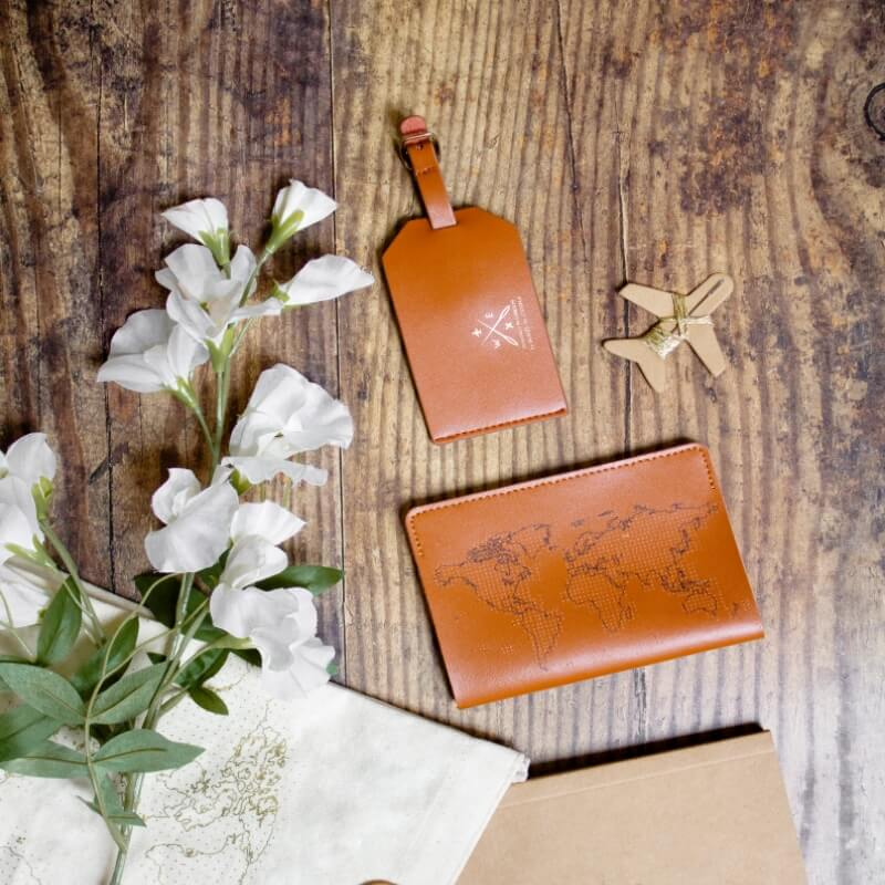 Stitch Your Own Passport Cover Brown