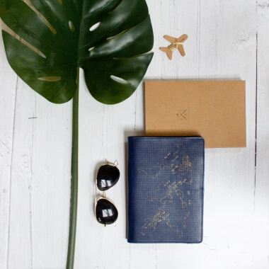 Stitch Your Own Passport Cover Navy