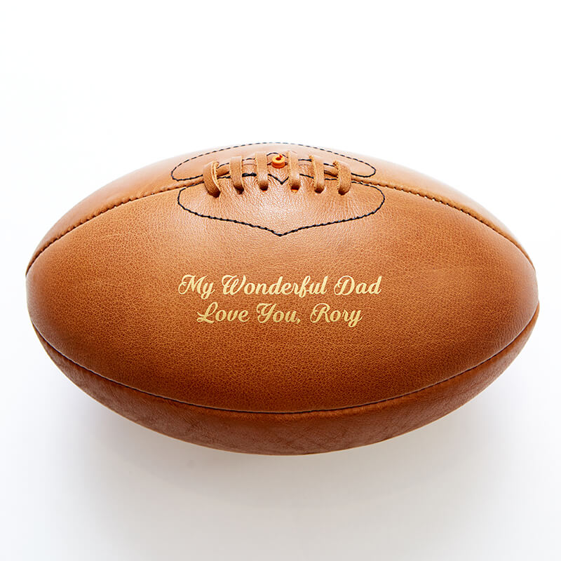 Personalised Vintage Leather Rugby Ball