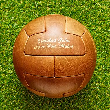 Personalised Vintage Leather Football - T-Panel