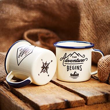 Gentlemen's Hardware Enamel Expresso Mug Set