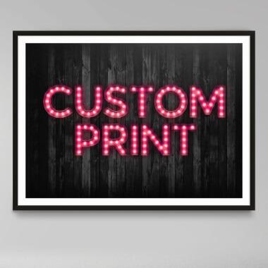 Custom Bulb Letter Print - Pink