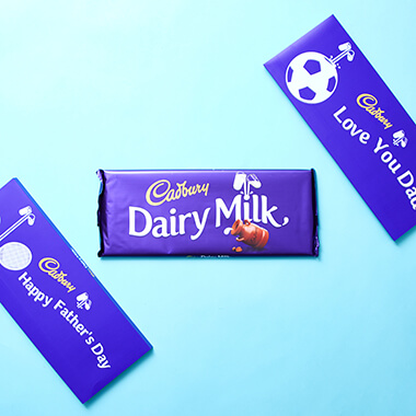 Personalised Cadbury Dairy Milk Bar - 850g