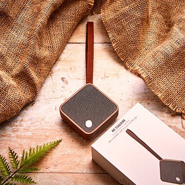 Gingko Mi Square Pocket Bluetooth Speaker - Walnut