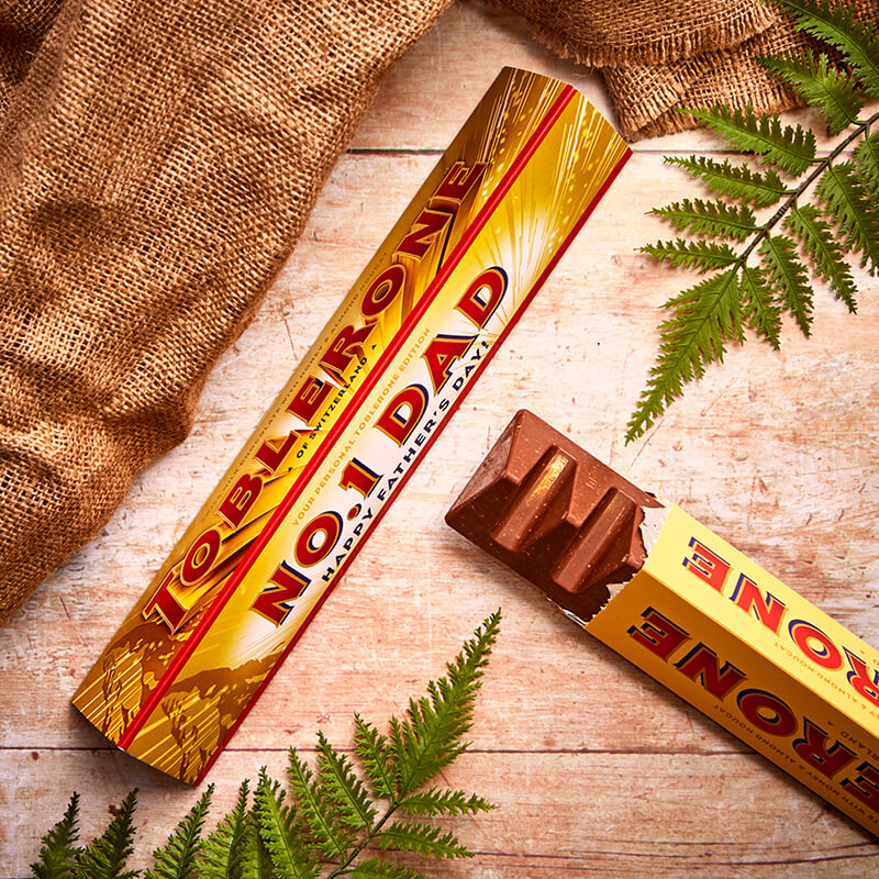Personalised Father's Day Toblerone Bar
