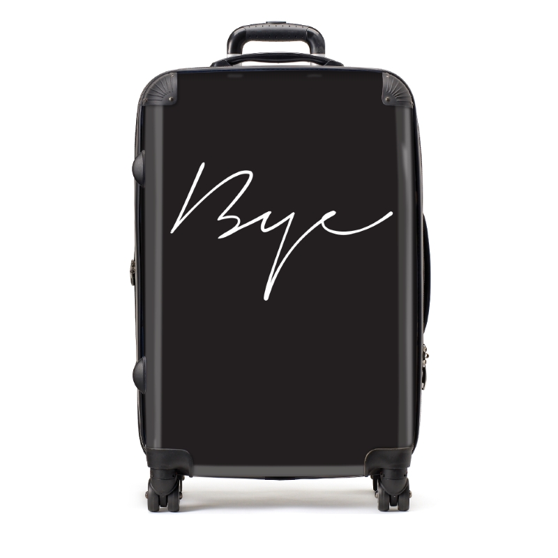 Medium Bye Black Suitcase