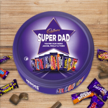Personalised Cadbury Hero's Tub