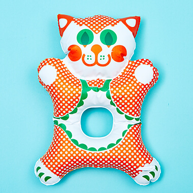 Kitty Inflatable Grip Toy - 1970's Design Classic