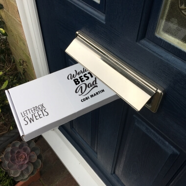 Personalised Worlds Best Dad Letterbox Sweets