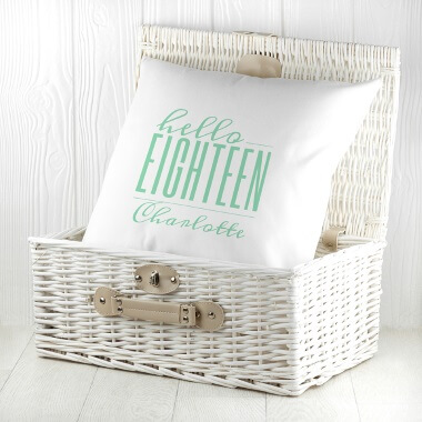 Personalised Hello Eighteen Birthday Cushion Cover