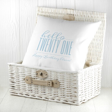 Personalised Hello Twenty One Birthday Cushion Cover