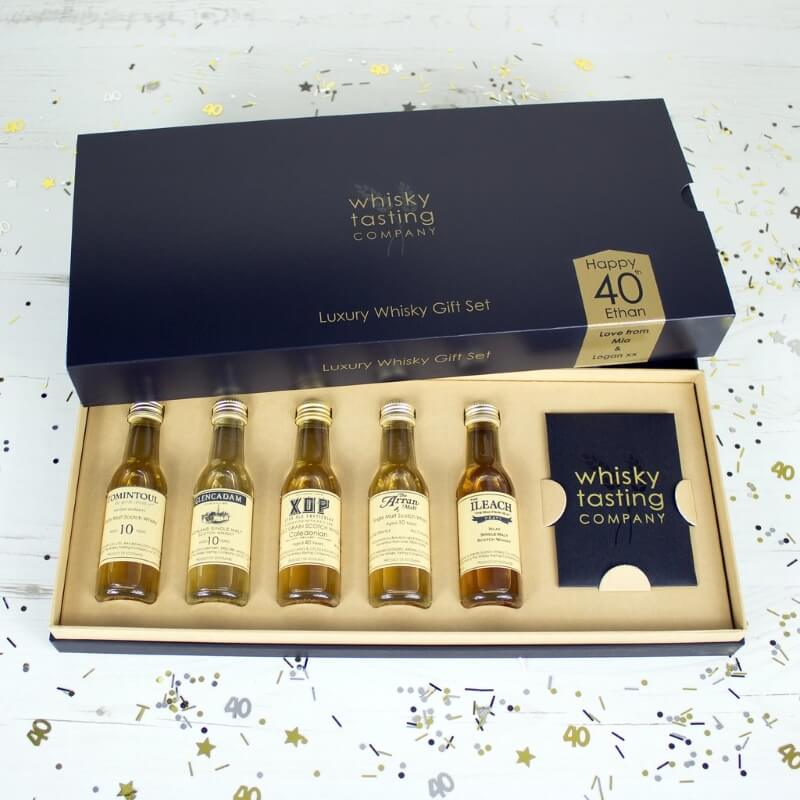 Personalised 40th Birthday Whisky Tasting Set