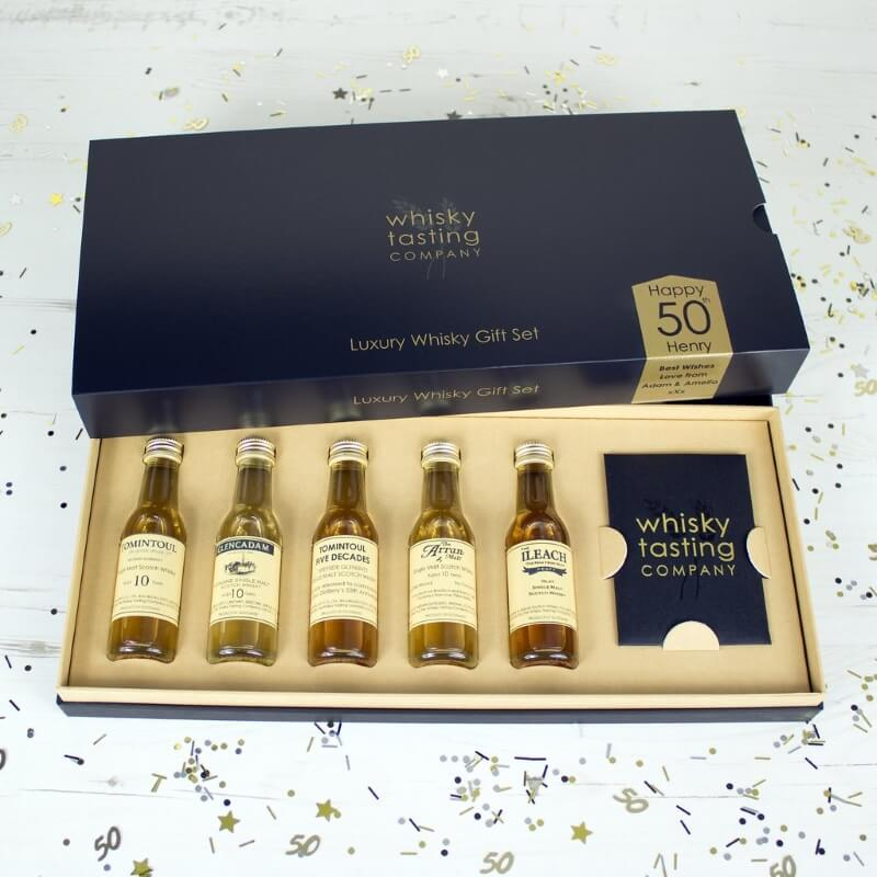 Personalised 50th Birthday Whisky Tasting Set