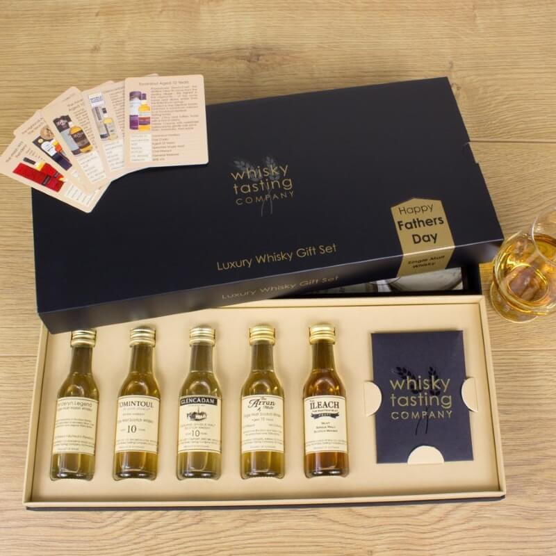 Personalised Father's Day Single Malt Whisky Tasting Set