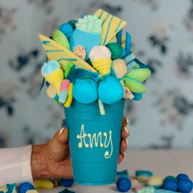Personalised Milk Chocolate Smash Cup - Blue