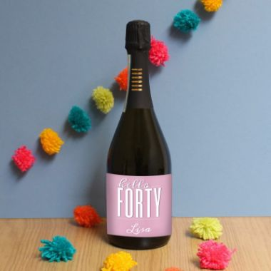 Personalised Hello Forty Prosecco
