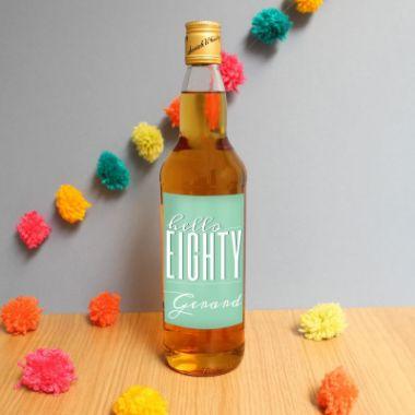 Personalised Hello Eighty Whisky