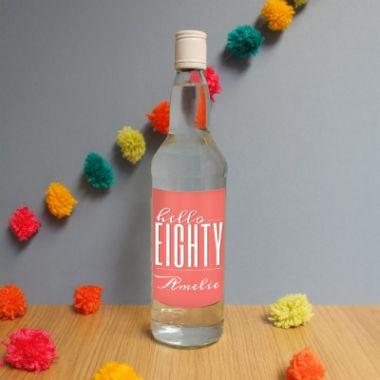 Personalised Hello Eighty White Rum