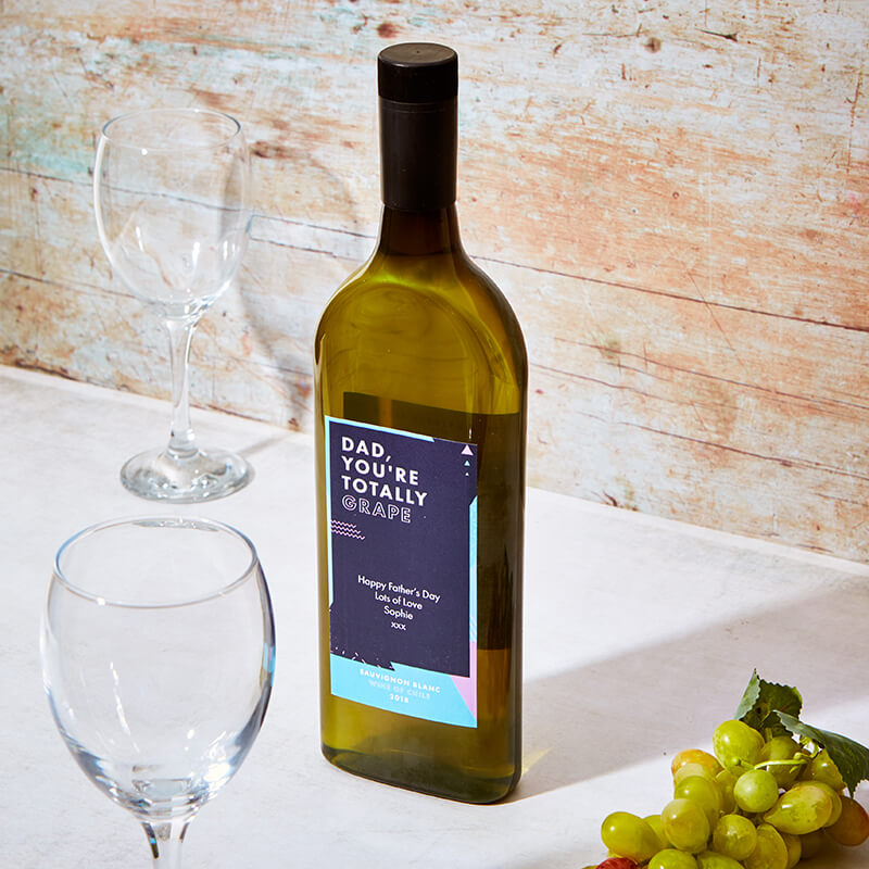 Personalised Letterbox White Wine for Dad