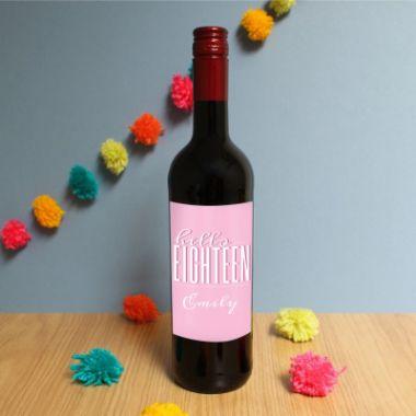 Personalised Hello Eighteen Red Wine