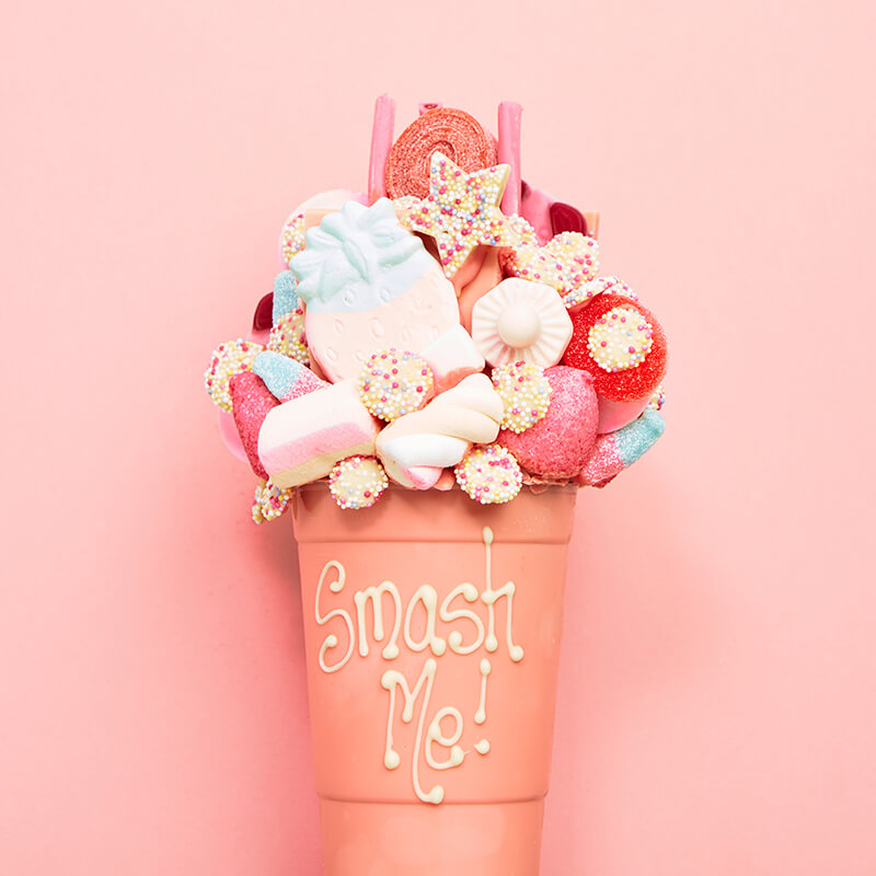 Personalised White Chocolate Smash Cup - Pink