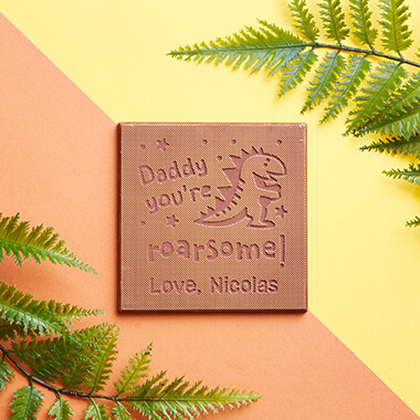Personalised Daddy You're Roaresome Chocolate Card