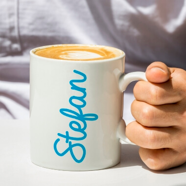 Personalised Blue Name Mug