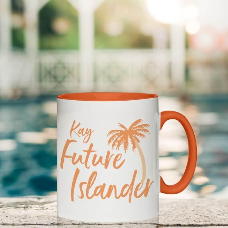 Personalised Future Islander Inside Colour Mug