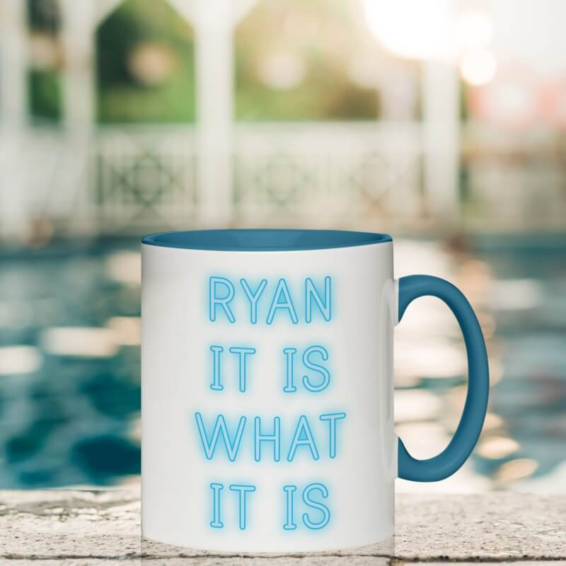 Personalised What It Is Inside Colour Mug