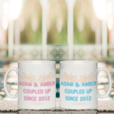 Personalised Coupled Up Since Mug Set