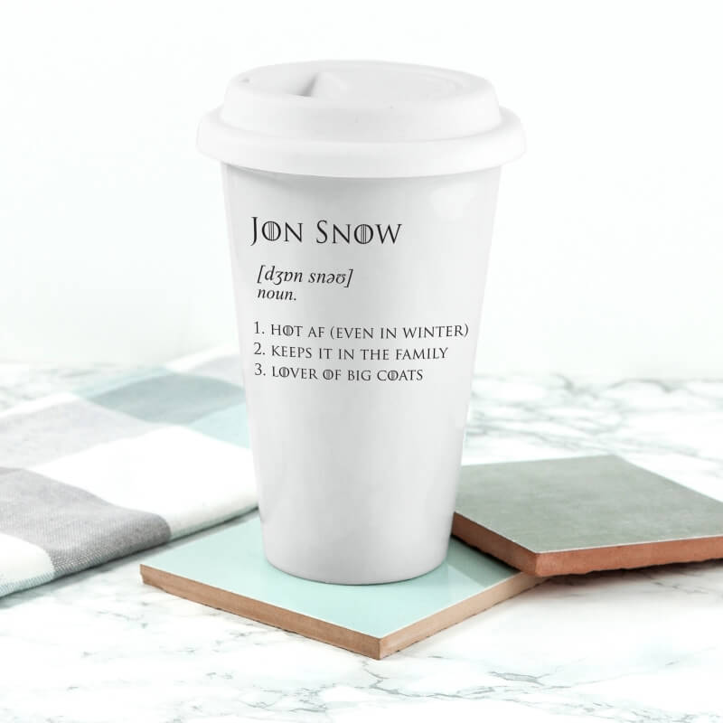 Game of Thrones Jon Snow Travel Mug