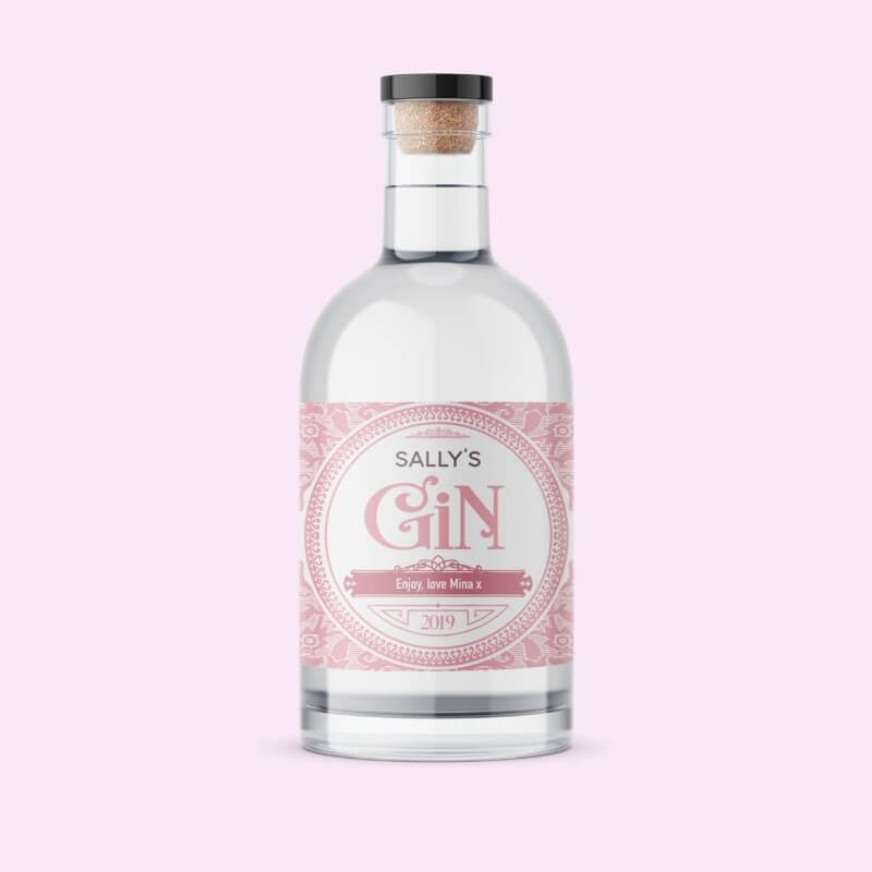 Personalised Blush Label Gin