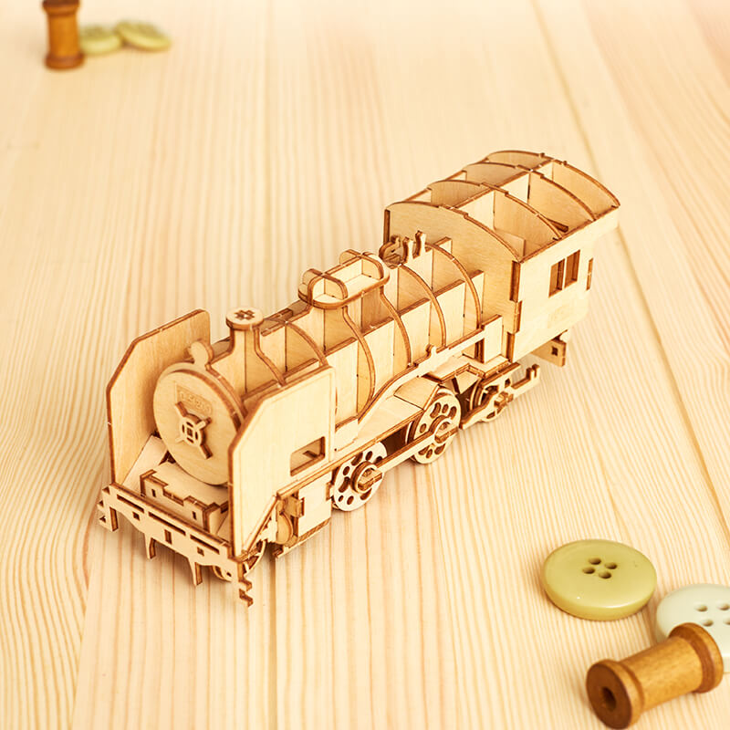 DIY Wooden Train Model