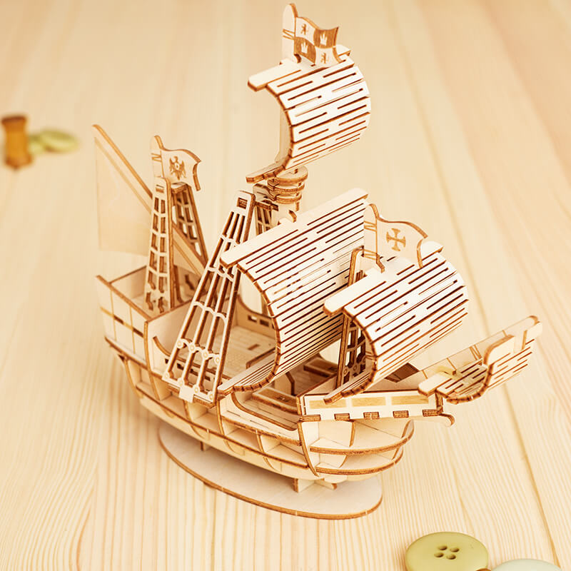 DIY Wooden Sailing Ship Model