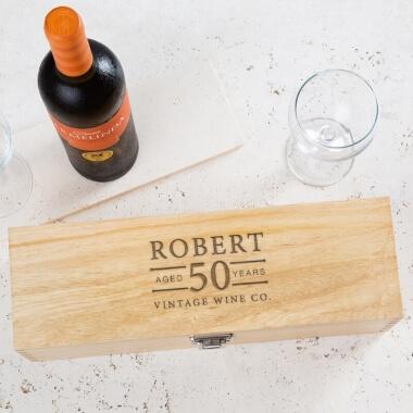 Personalised Birthday Age Wine Box