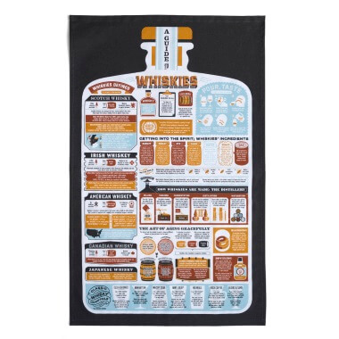 A Guide to Whiskies Tea Towel