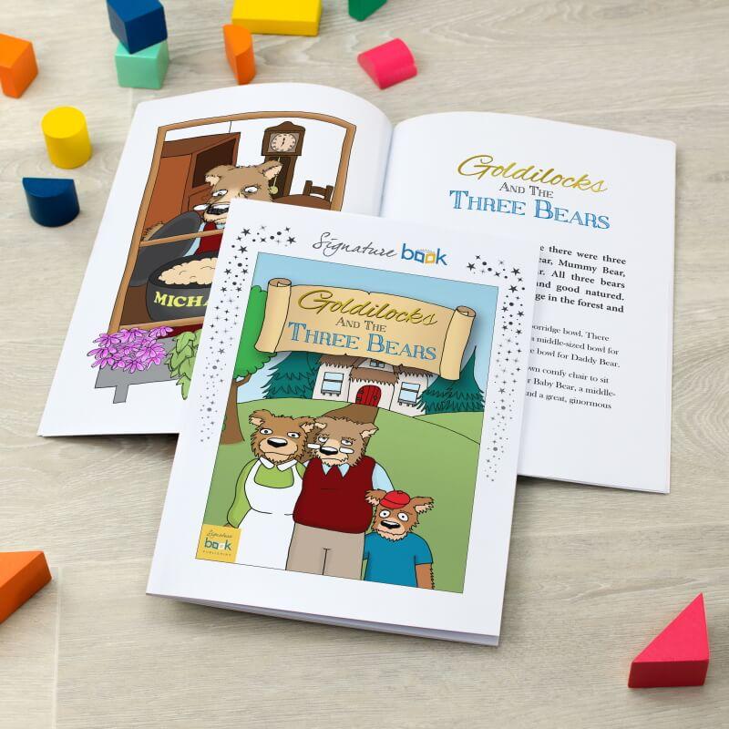 Personalised Goldilocks and the Three Bears Story Book