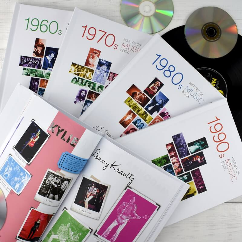 Personalised History of Music Decade Book