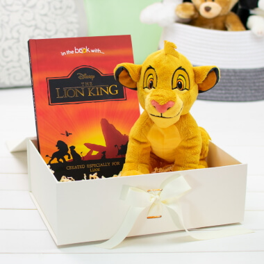 Personalised Lion King Story Plush Toy Gift Set