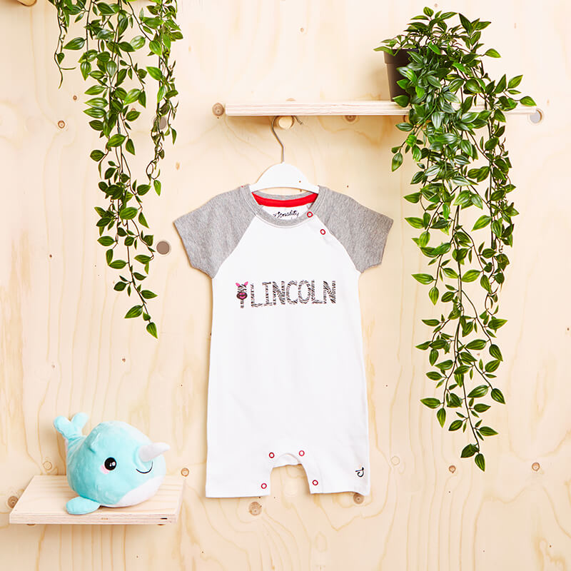 Personalised Safari Baseball Romper