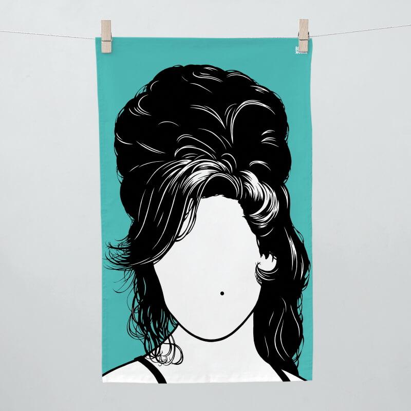 Amy Winehouse Tea Towel