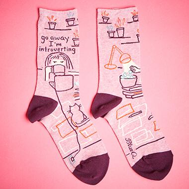 Go Away I'm Introverting Women's Socks