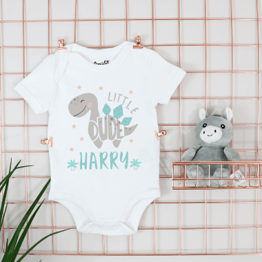 Personalised Little Dino Bodysuit