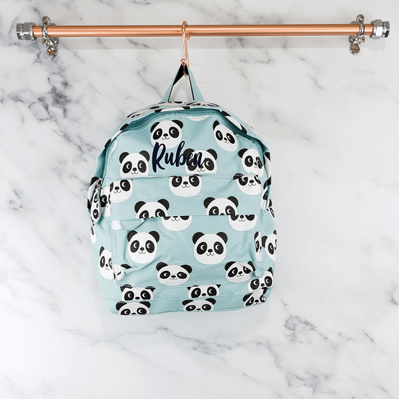 Personalised Panda Backpack