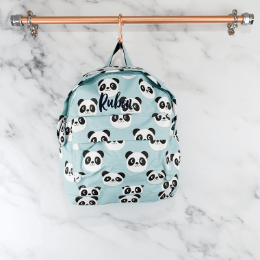 Personalised Panda Backpack