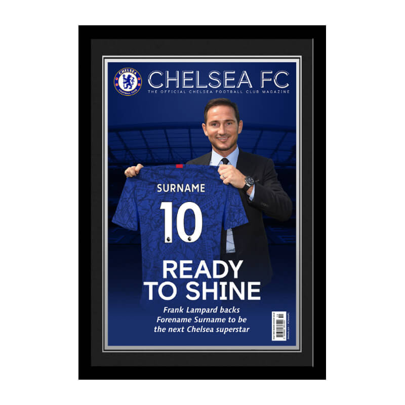 Personalised Chelsea FC Magazine Cover Framed Photo